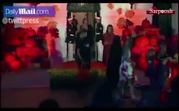فیلم/ جشن هالووین در کاخ سفید با حضور دونالد و ملانیا ترامپ