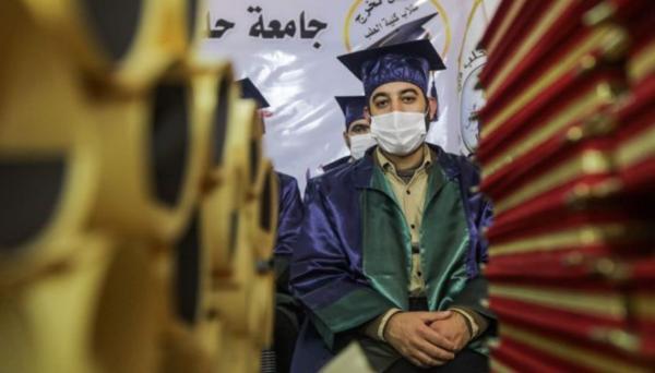 جشن فارغ التحصیلی زیر سایه شورشیان سوری