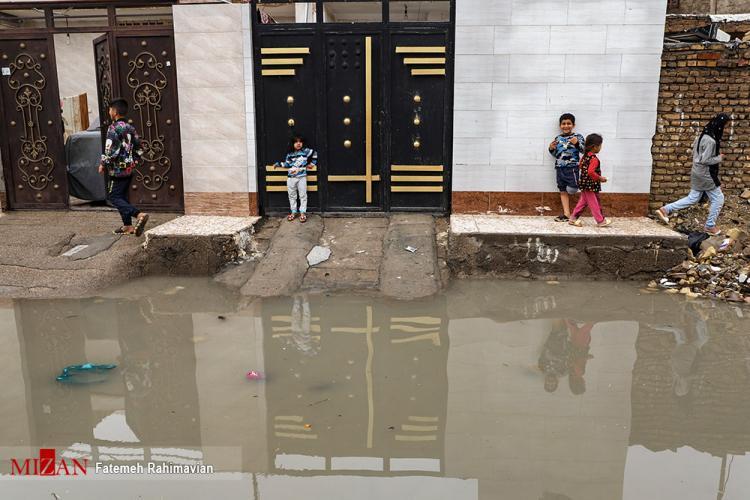تصاویر سیل در اهواز,عکس های سیلاب در اهواز,تصاویر سیلاب و آبگرفتگی در اهواز