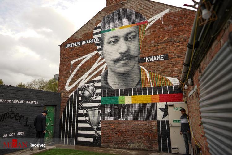 تصاویر گرافیتی از فوتبالیست ها,تصاویر نقاشی دیواری از بازیکنان فوتبال,عکس های گرافیتی از فوتبال