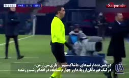 فیلم/ اتفاق باورنکردنی در لیگ قهرمانان اروپا؛ توهین نژادپرستانه داور و ترک زمین از سوی بازیکنان دو تیم