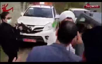 فیلم/ درگیری مردم آق مشهدی با مدیرکل اوقاف مازندران