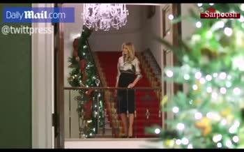 فیلم/ تزئین کاخ سفید برای کریسمس توسط ملانیا ترامپ