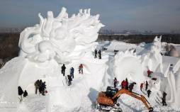 تصاویر آغاز ساخت شهر یخی در چین,عکس های شهر یخی در چین,تصاویری از شهر یخی چین