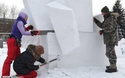 تصاویر جشنواره مجسمههای یخی در مسکو,عکس های جشنواره مجسمه ها در روسیه,تصاویر فستیوال مجسمه های یخی در کشور روسیه