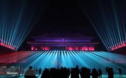 تصاویر نمایش نور در موزه قصر در پکن,عکس های نمایش نور در موزه قصر,تصاویر نمایش نور در پکن