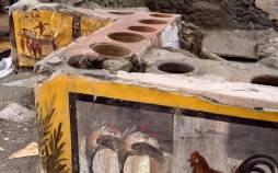 تصاویر کشف یک فست فودی 2 هزار ساله در ایتالیا,تصاویر کشف اغذیه فروشی خیابانی دو هزار ساله در رم باستان,تصاویر یک فست فودی در رم