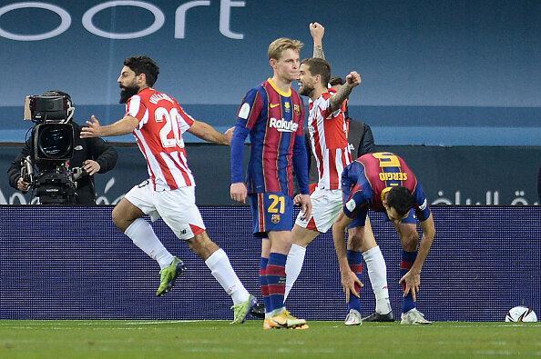 دیدارهای هفته هجدهم سری A ایتالیا و سوپرجام اسپانیا,شکست بارسلونا و اینتر