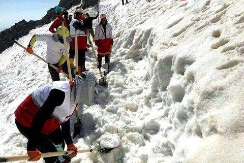 به کوهنوردان زمینگیر شده در حادثه بهمن,امدادرسانی