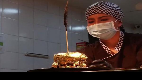 مبرگر با طلای ۲۴ عیار,همبرگر طلایی در کلمبیا