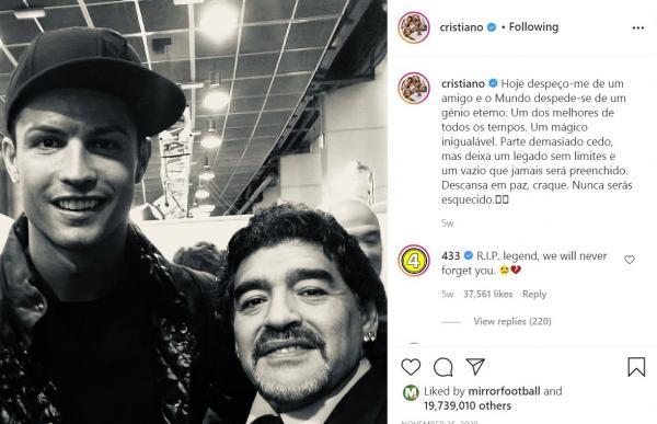 لایک اینستاگرام در 2020,کریستیانو رونالدو