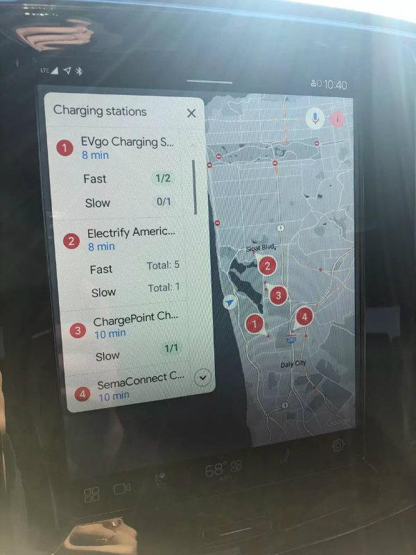 خودروی برقی,سیستم اینفوتینمنت اندرویدی ولوو