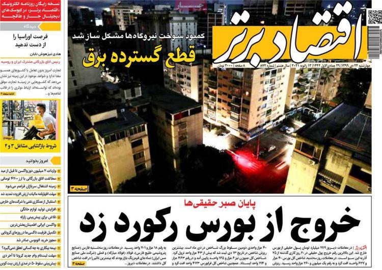 عناوین روزنامه های اقتصادی چهارشنبه 24 دی 1399,روزنامه,روزنامه های امروز,روزنامه های اقتصادی