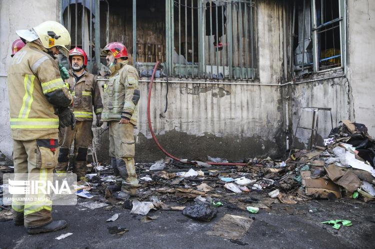 تصاویر آتش سوزی در میدان رازی,عکس های آتش گرفتن میدان رازی,تصاویری از آتش گرفتن میدان رازی