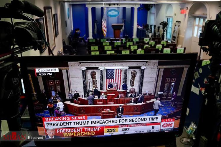 تصاویر جلسه استیضاح ترامپ در مجلس نمایندگان آمریکا,عکس های جلسه استیضاح ترامپ,تصاویر جلسه مجلس نمایندگان آمریکا در 13 ژانویه