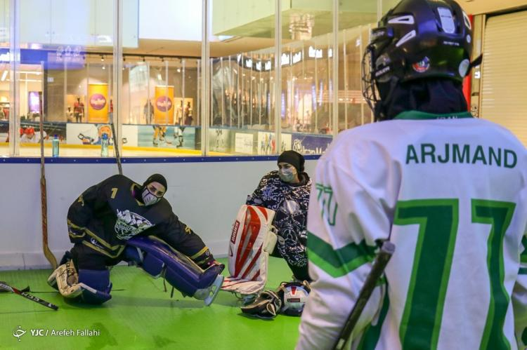 تصاویر تمرین تیم ملی هاکی روی یخ بانوان,عکس های بازیکنان تیم ملی هاکی روی یخ بانوان,تصاویر تمرین تیم ملی هاکی روی یخ بانوان