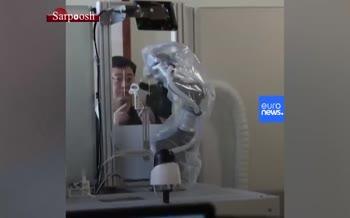 فیلم/ ربات نمونهگیر برای تست کرونا