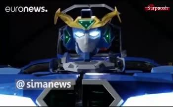 فیلم/ ربات ژاپنی که در ۶۰ ثانیه تبدیل به خودرو میشود