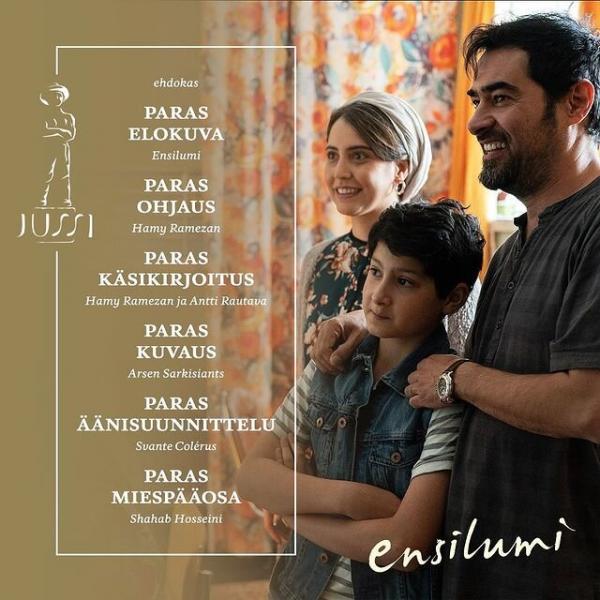 فیلم هر روزی اکنون,شهاب حسینی نامزد مهمترین جوایز سینمای فنلاند