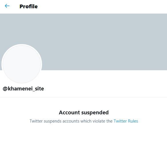 مسدود شدن توییتر حساب دفتر رهبر انقلاب,رهبر انقلاب