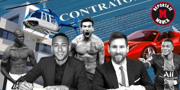 ستاره های فوتبال,بندهای عجیب قراردادستاره های فوتبال