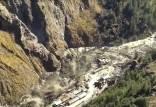 حادثه شکسته شدن یخچال ها در هیمالیای هند