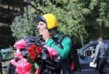 سقوط مرگبار چترباز معروف در تهران,محمد بزرگی