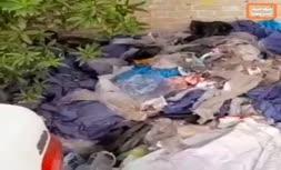 فیلم | تخلیه زبالههای بیمارستانی در مرکز شهر اهواز!