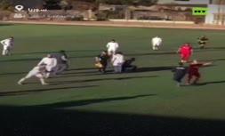 فیلم | کتک زدن داور فوتبال در سوریه!