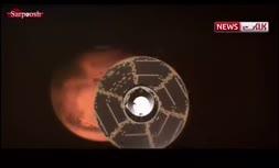 فیلم/ فرود شبیه سازی شده مریخ نورد استقامت بر فراز سیاره سرخ