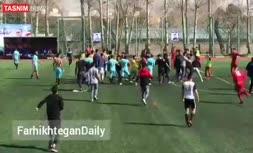 فیلم | چاقوکشی در فوتبال تهران