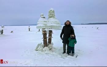 تصاویر قارچهای یخی در روسیه,عکس قارچ یخی در روسیه,تصاویر قارچهای یخی در دالنی واستوک کشور روسیه