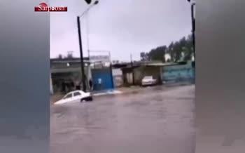 فیلم/ غرق شدن یک نفر در آبگرفتگی شهر بهبهان (خوزستان)