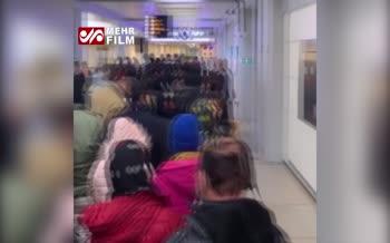 فیلم/ وضعیت اسفناک ورود مسافران به ایران در فرودگاه امام(ره)