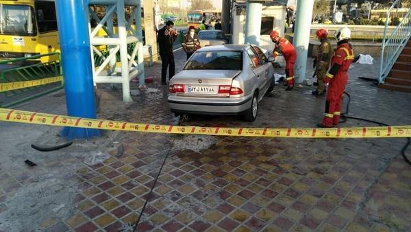 تصادف مرگبار در خیابان خاوران تهران