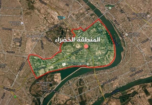 حملات راکتی در نزدیکی سفارت آمریکا در بغداد,منطقه سبز بغداد