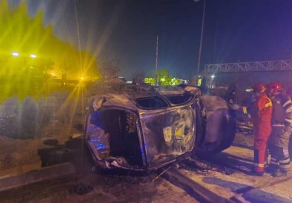واژگونی خودرو در محور امیرکبیر کاشان,تصادف در کاشان