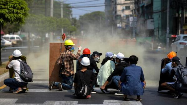 اعتراضات میانمار,تظاهرات اعتراضی در میانمار