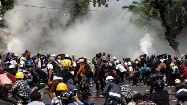 اعتراضات در میانمار,میانمار