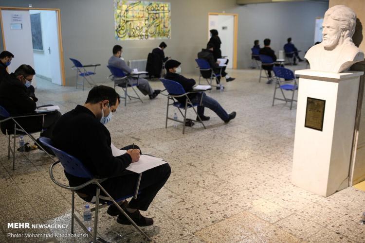 تصاویر آزمون ورودی دوره دکتری نیمه متمرکز سال ۱۴۰۰,عکس های آزمون دکتری در تهران,تصاویر آزمون دکتری ۱۴۰۰