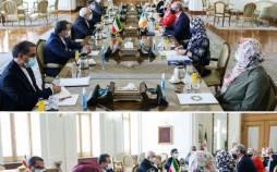 زنان در مذاکرات وزیر خارجه ایرلند با ظریف,عکس ظریف
