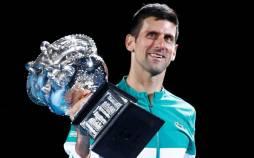 تصاویر قهرمانی جوکوویچ و اوزاکا در تنیس اوپن استرالیا,عکس های جوکوویچ در مسابقات تنیس استرالیا,عکس های دیدار جوکوویچ و دنیل مدودف