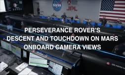 ناسا فیلم مربوط به لحظه فرود کاوشگر استقامت بر سطح مریخ را منتشر کرد