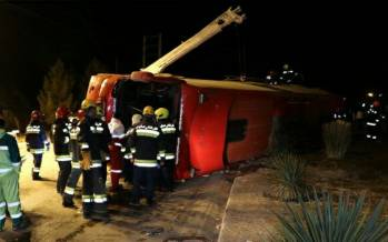 واژگونی اتوبوس در اصفهان,حوادث اصفهان