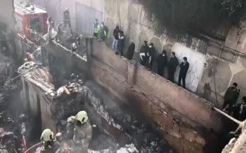 فیلم | آتش سوزی در انبار پنبه در خیابان مولوی تهران!