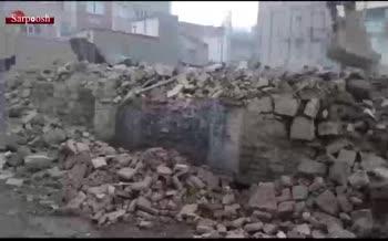 فیلم/ تخریب میراث دویست ساله کرمانشاه توسط مدیر اوقاف