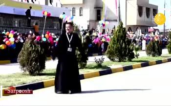 فیلم/ شادی و رقص یک کشیش در استقبال از پاپ فرانسیس