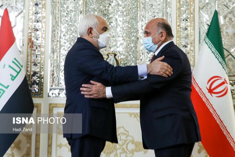 تصاویر دیدار وزیر امور خارجه عراق با ظریف,عکس های دیدار ظریف و فؤاد حسین,تصاویری از دیدار فؤاد حسین و ظریف