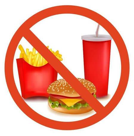 غذاهای ممنوع در رژیم لاغری,انواع رژیم لاغری,رژیم لاغری
