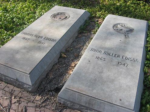 زندگی نامه ادیسون,بیوگرافی ادیسون,قبر ادیسون